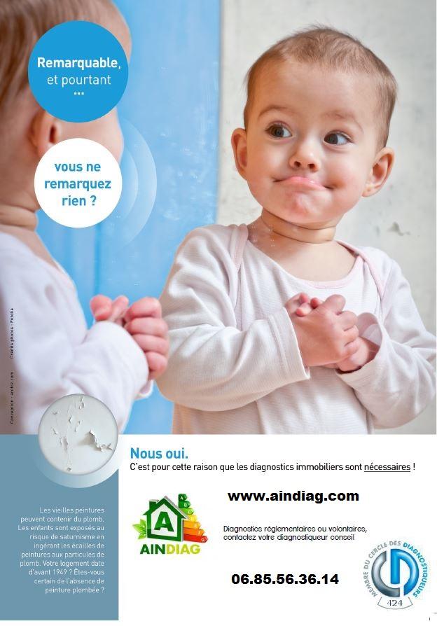 campagne de sensibilisation sur l 39 ain pour le diagnostic plomb crep ain diag. Black Bedroom Furniture Sets. Home Design Ideas